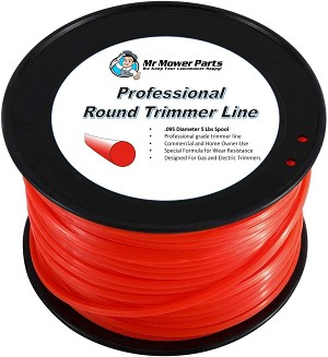 Heavy-Duty Professional Red Round Trimmer Line .095 5LB Spool